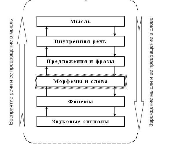 Схема процесса восприятия речи